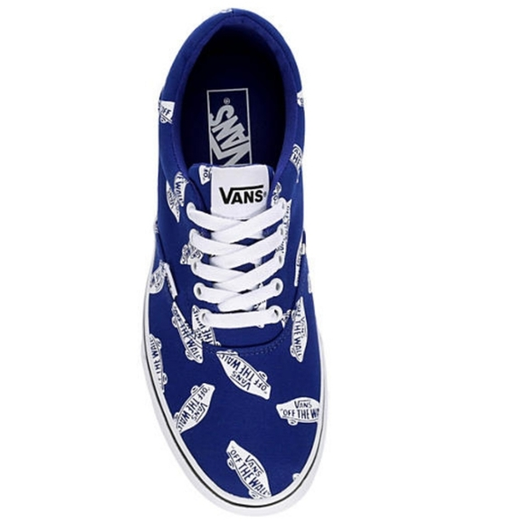 NEW Vans Off The Wall Doheny Mens Blue Skater Shoe